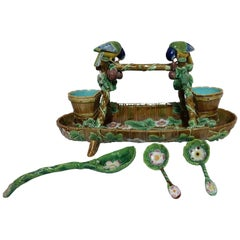 George Jones Majolica Strawberry Service, circa 1875