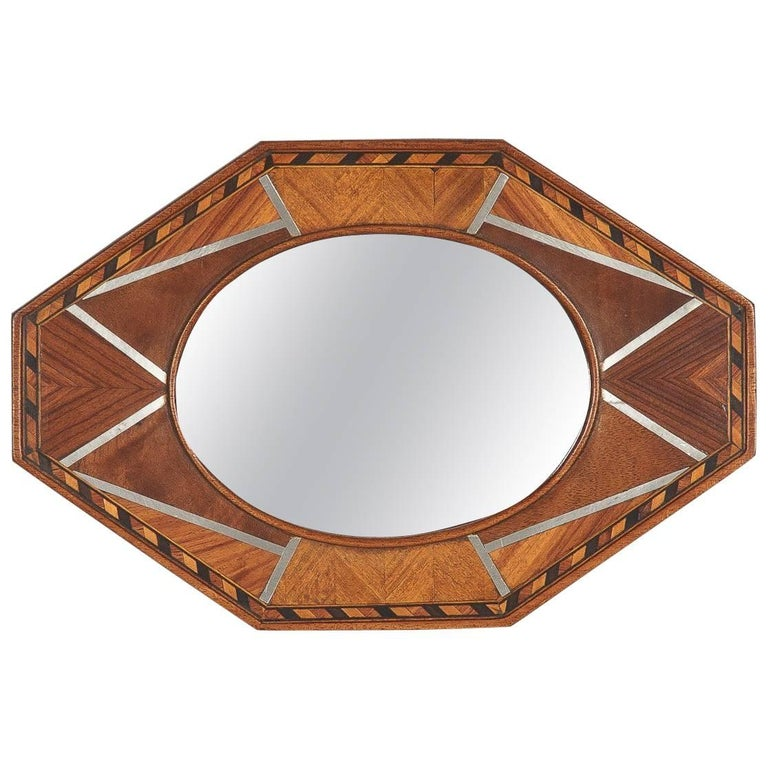 Petite French Art Deco Mirror, 1930s
