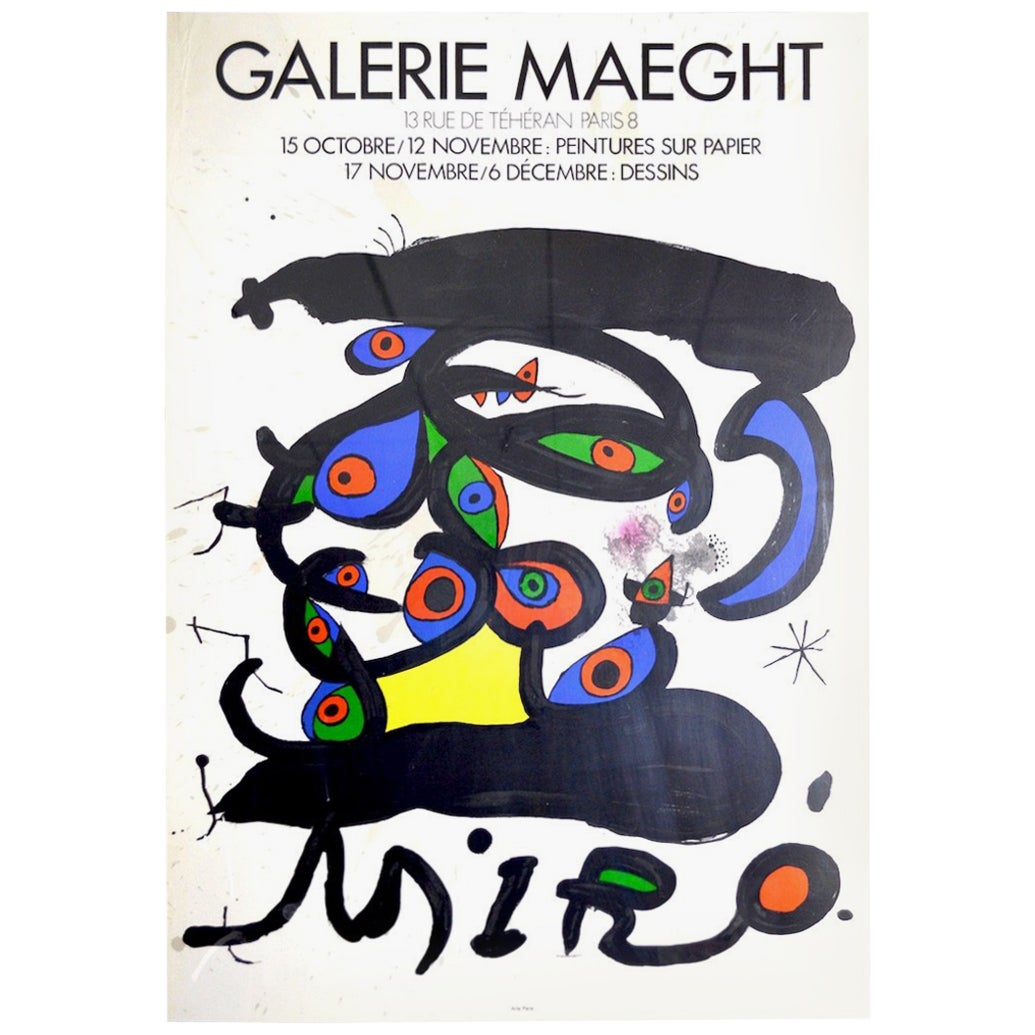 Galerie Maeght Miro Poster