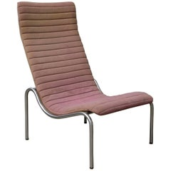 1968, Kho Liang Ie for Stabin Holland, Rare Pink Fabric 704 High Lounge Chair