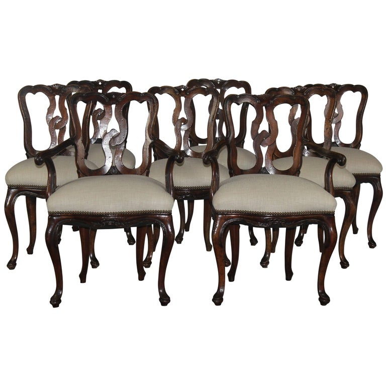 Set of Eight 19th Century Dining Chairs