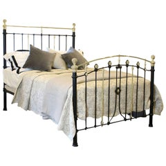 Decorative Black Brass and Iron Bed, MK130