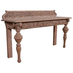 Italian Bleached Console Table