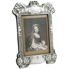 1903 Antique Sterling Silver Photograph Frame