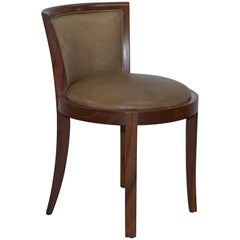 "Starbay ""The Living Legend"" Greta Ash Dressing Table Chair Leather"