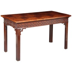 Chippendale Serving Table with a Marquetry Top