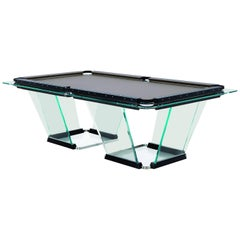 """T1"" Crystal Pool Table Designed by Marc Sadler for Teckell"