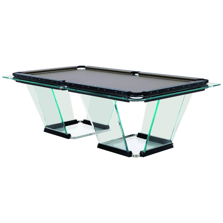 """""""T1"""" Crystal Pool Table Designed by Marc Sadler for Teckell"""