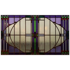 Art Nouveau Stained Glass Window from, circa 1900