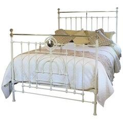 Decorative Cream Brass and Iron Bed, MK133
