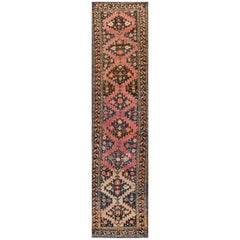 Early 1900s Multicolored Russian Karabagh Rug