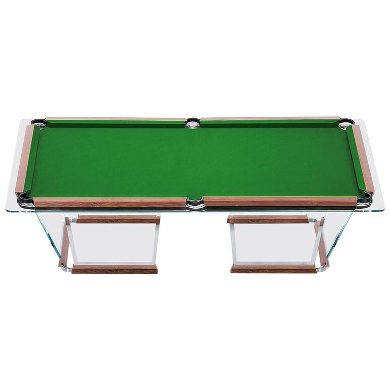T Crystal Pool Table With Gold Plated Covers By Marc Sadler For - Master pool table