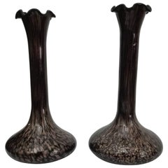Pair of Vases for a Flower Murano Glass