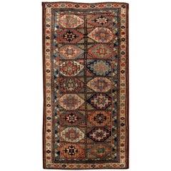 Handmade Antique Caucasian Kazak Mohan Rug, 1880s