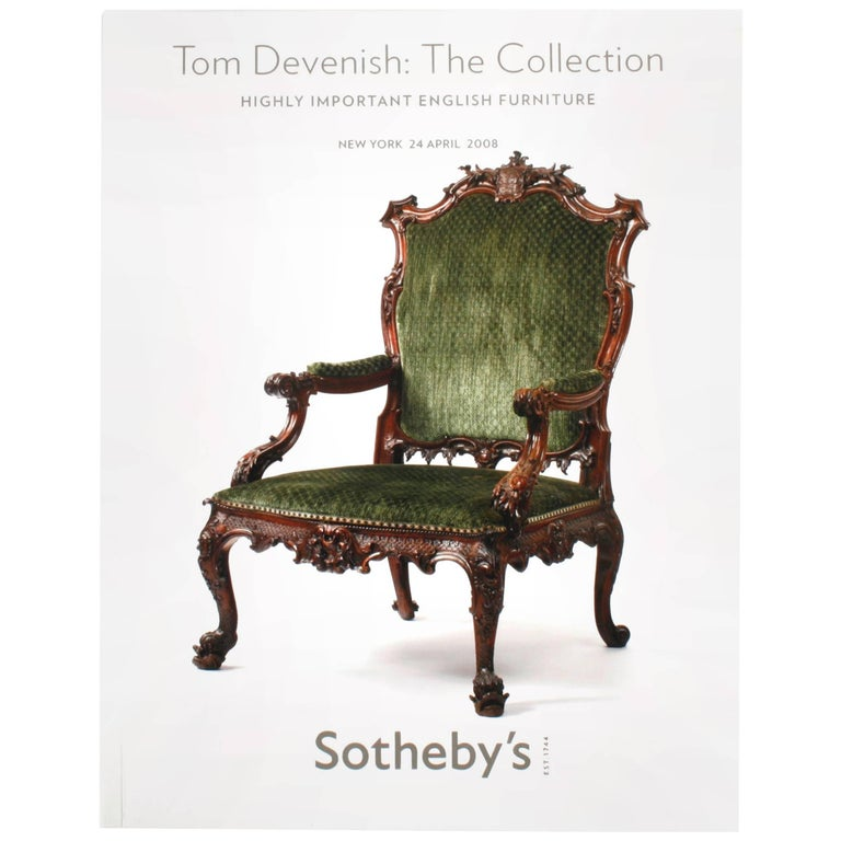 Sotheby's, Tom Devenish Collection of Important English Furniture, 2008