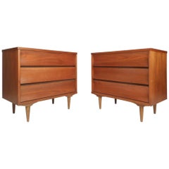 Pair of Mid-Century Modern Three-Drawer Chests
