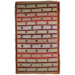 Handmade Antique American Hooked Rug, 1890s