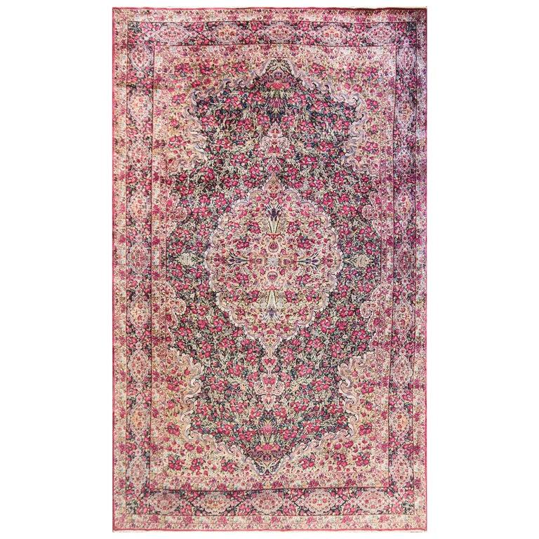 Antique Persian Kerman Laver Carpet Circa 1920s 8 8 X 14 9 For Sale At 1stdibs