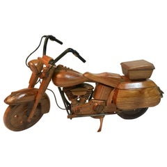 Wooden Model Motorcycle