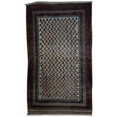 Handmade Antique Afghan Baluch Rug, 1880s