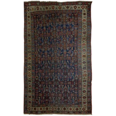 Handmade Antique Persian Bidjar Rug, 1880s