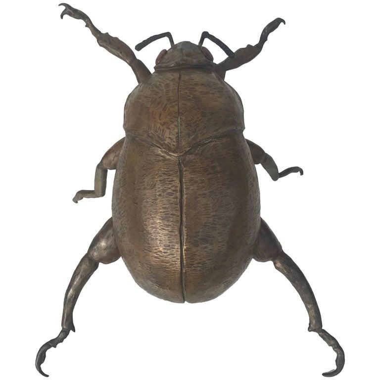 Giant Garding Beetle Sculpture in Bronze