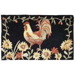 Handmade Vintage American Hooked Rug, 1960s, 1C462