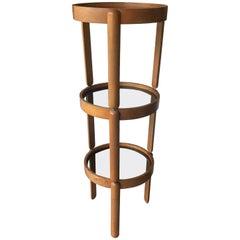Italian Design Circular Nest of Tables by Porada Arredi, Cabiate, Wood and Glass