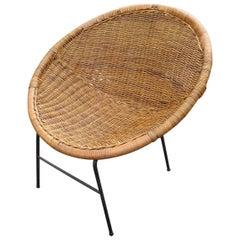 Woven Rattan Saucer Chair