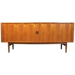 Arne Vodder Danish Teak Credenza with Tambour Doors