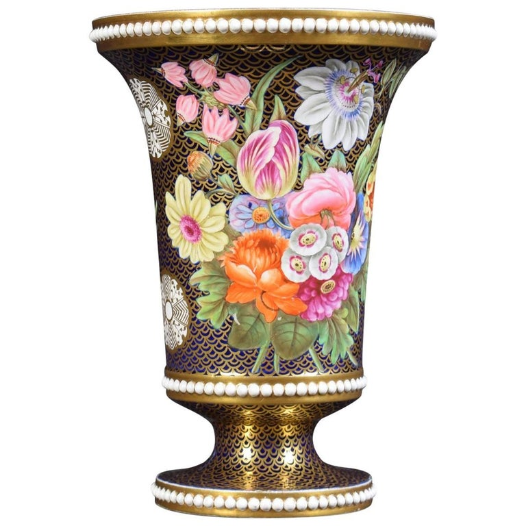 Regency Period Spode Porcelain Spill Vase For Sale