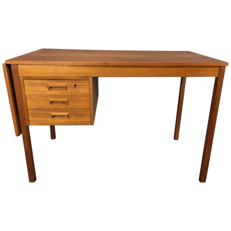 Drop-Leaf Teak Desk