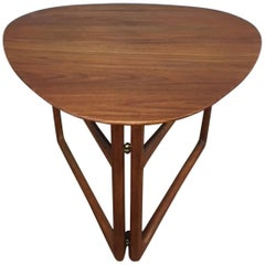 Peter Hvidt Folding Side Table in Teak
