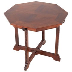 Mahogany Dutch Arts & Crafts Table by Willem Haver for J.a.Huizinga, 1900s