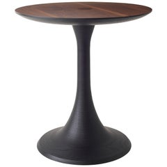 Turn Up Table Modern Turned Hardwood Occasional Table for Living Room or Bedroom