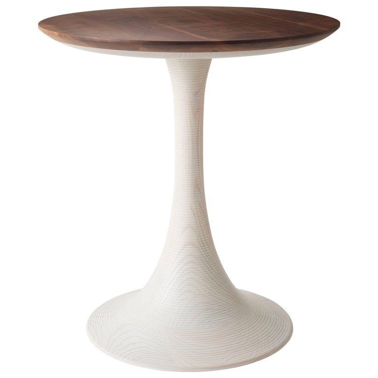 Turn Up Table Modern Turned Hardwood Occasional Table for Living Room or Bedroom For Sale