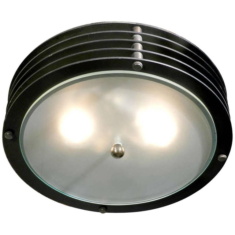 Round Industrial Vented Flush Mount For Sale