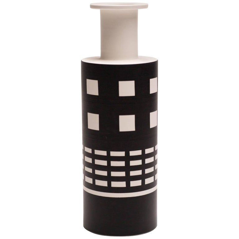 Rocchetto Ceramic Vase Designed by Ettore Sottsass For Sale