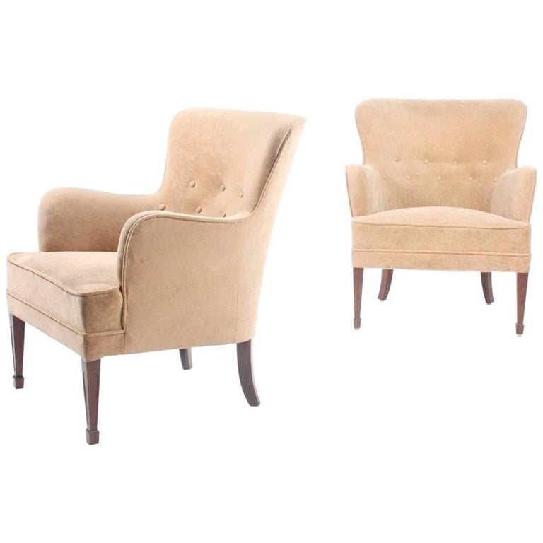 Pair of Lounge Chairs by Frits Henningsen