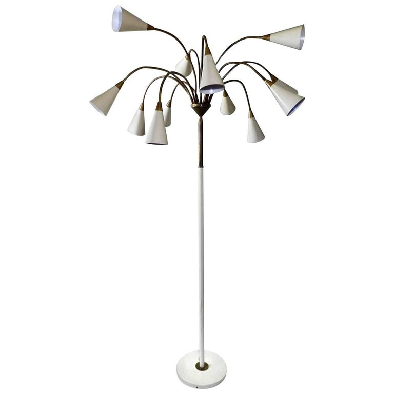 Twelve Shade Stilnovo Style Floor Lamp 1
