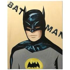 Portrait of a Batman Pop Art Painting by Hatti Hoodsveld