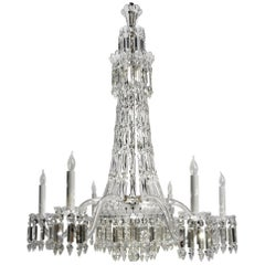 19th Century English Crystal Chandelier by F & C Osler