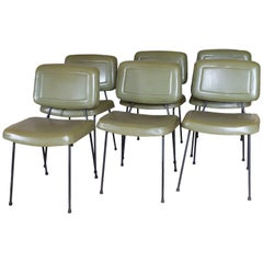 Pierre Paulin, a Suite of Six Chairs Model CM 196, circa 1960