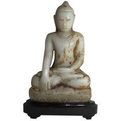 Fine Antique Hand-Carved Tibetan Sitting Buddha