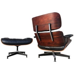 Early 1960s Eames Lounge with Down Cushions