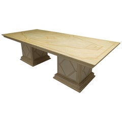 Custom Italian Faux Painted Dining Table