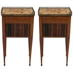 Pair of Mahogany Louis XVI Style Cabinets