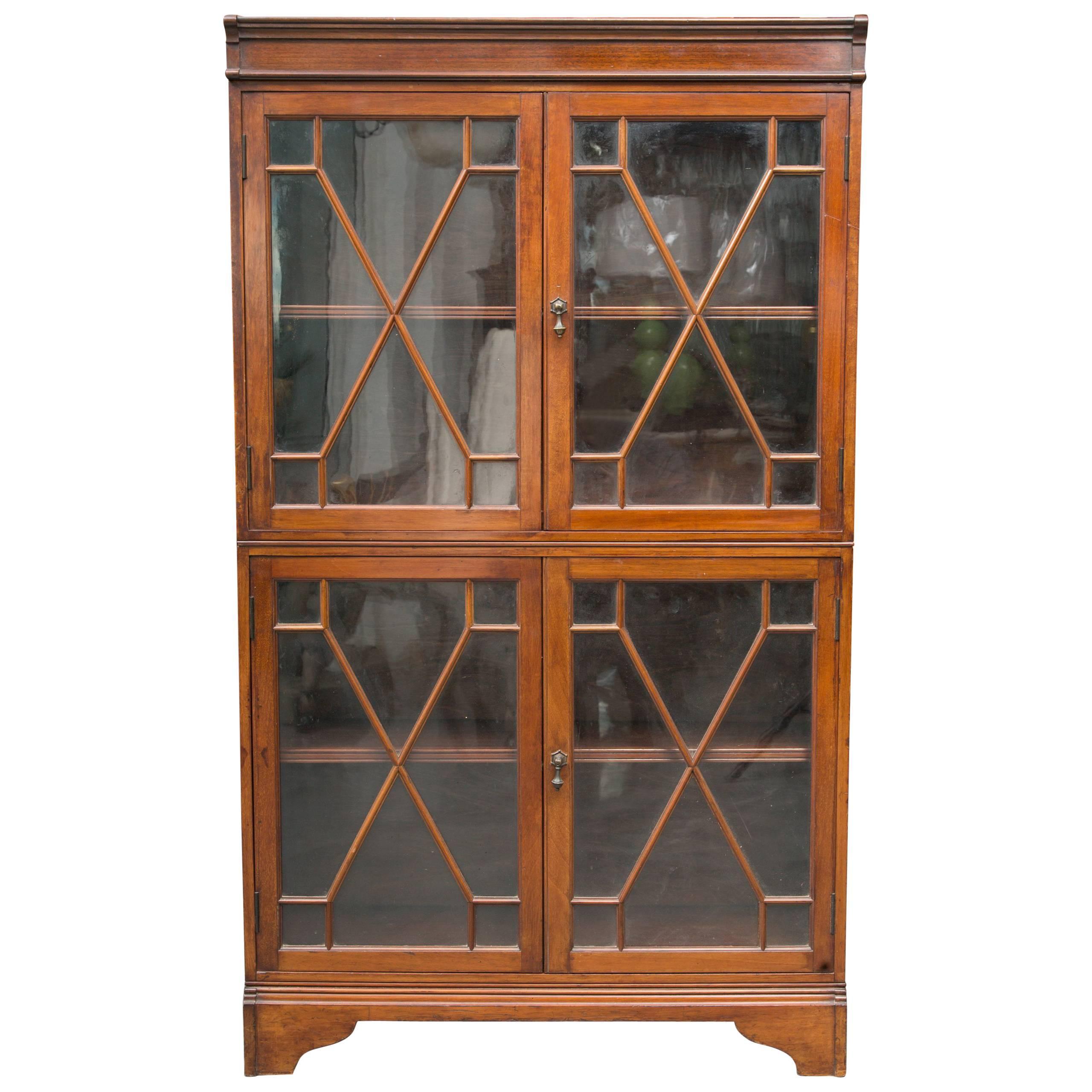19th century dwarf english bookcase