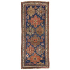 Antique Russian Kazak Gallery Rug with Modern Tribal Style, Wide Hallway Runner