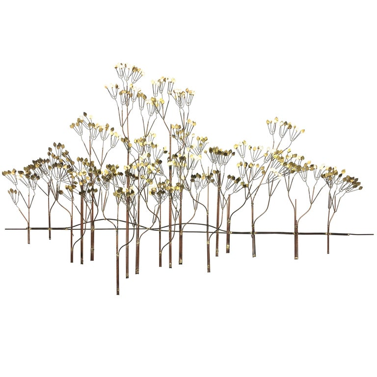 Curtis Jere Metal Wall Tree Sculpture